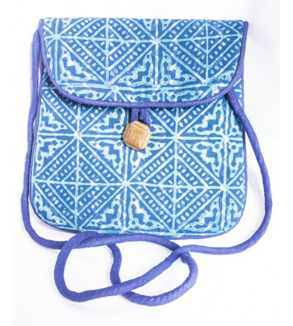 CCIC Cotton Sling Bag With Assorted Designs And Colors Size 20x20 Cm
