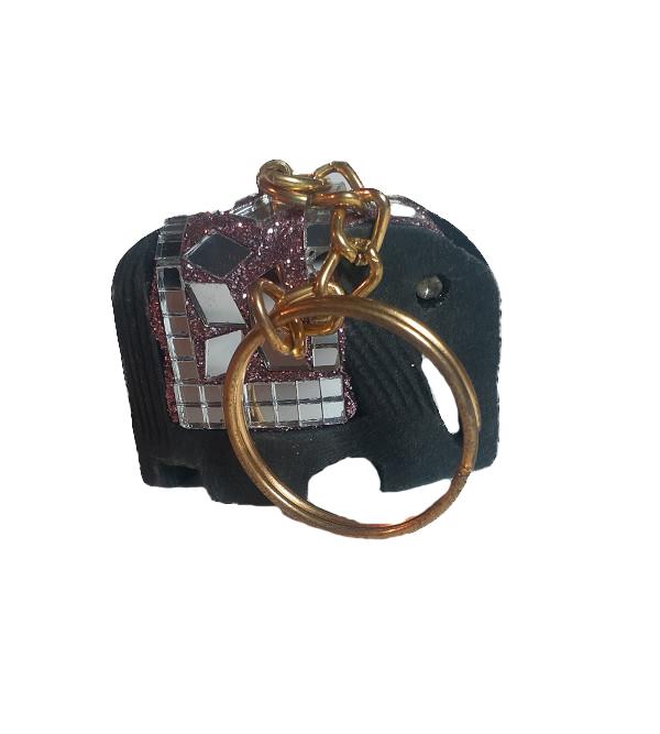Lac decorative Elephant Key Ring Size Medium