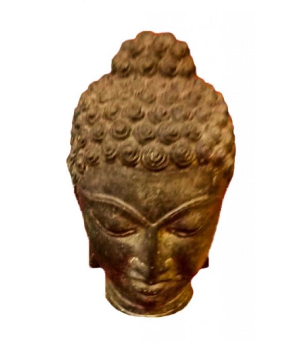 BUDDHA HEAD BLACK STONE 8 INCH