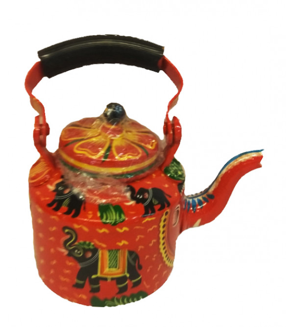 Metal Hand Crafted  Lacquerware Kettle Set from Varanasi