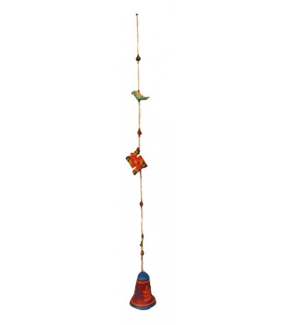 Wooden Hand  Crafted Lacquerware Bell Hanging from Varanasi