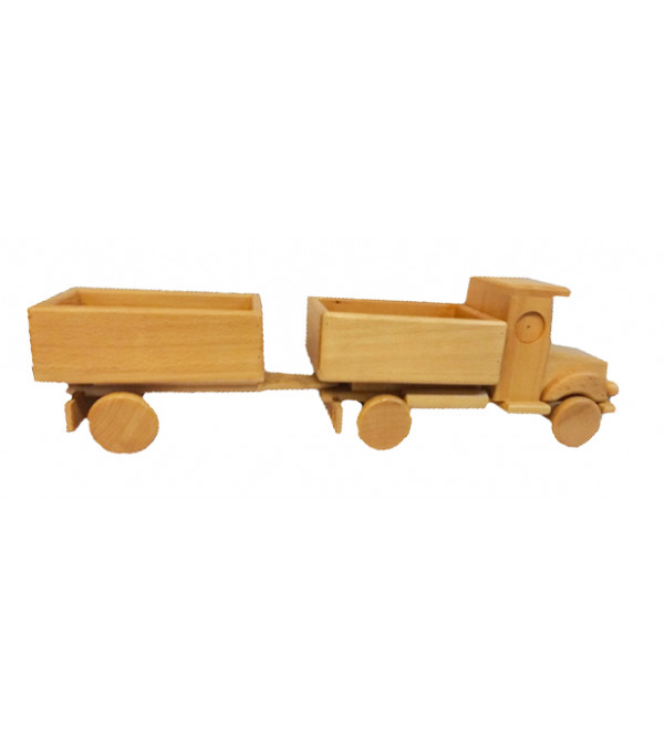 Saharanpur Handcrafted Wooden Truck With Wagon Size16Inches.