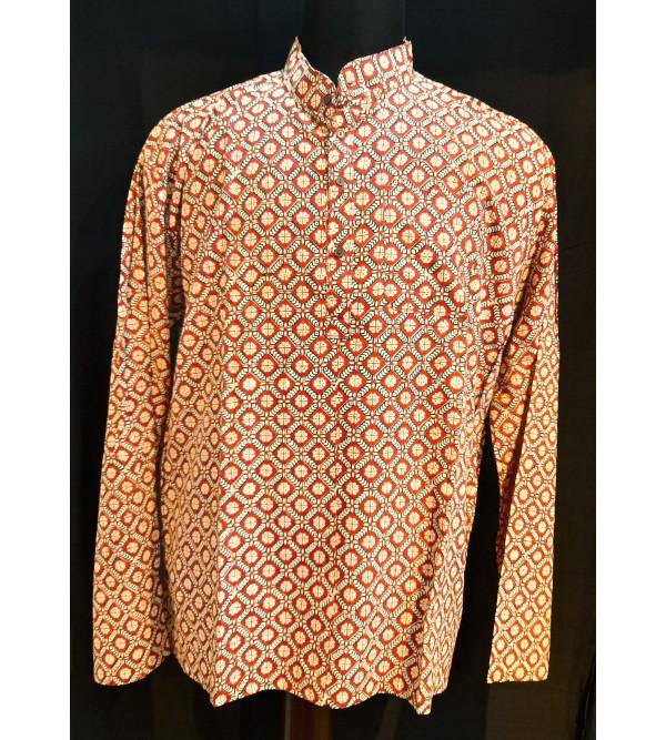 Printed Cotton Short Kurta Full Sleeve Size 48 Inch