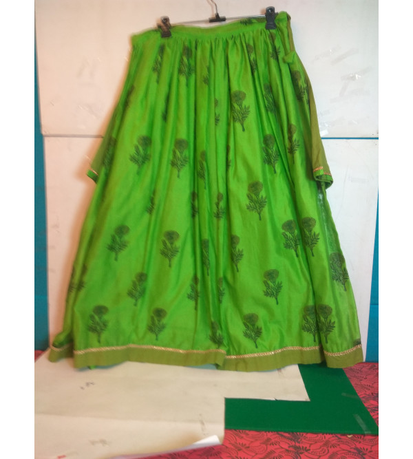 Printed Silk Lehenga  Choli Set Size 10 to 12 yr
