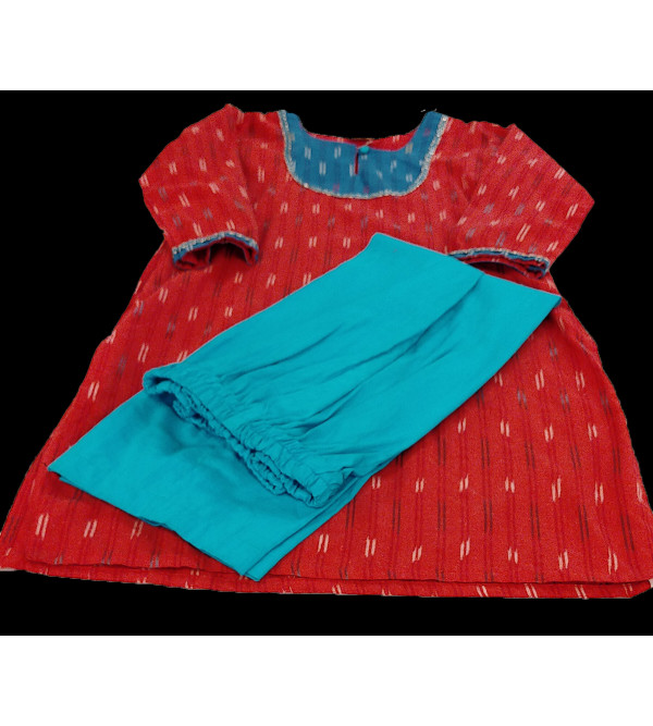 Cotton Ikat Salwar Kameez Set Size 10 to 12 Year