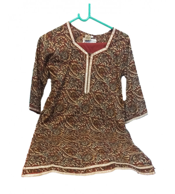 Cotton Printed  Kameez  With Plain Salwar Set Size 10 to 12 Year