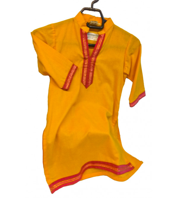 Cotton Plain Manglagiri Girls Kurta Size 2 to 4 Year