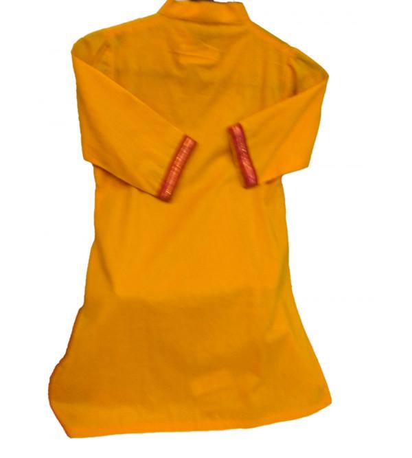 Cotton Plain Manglagiri Girls Kurta Size 2 to 4 Year