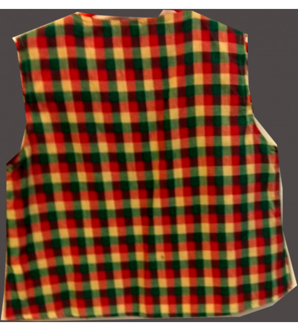 Cotton Check Print Jacket With Linning Size 6 to 8 Year