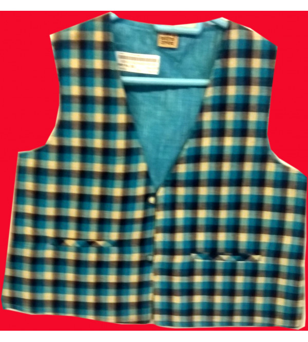 Cotton Check Print Jacket With Linning Size10 to 12 Year