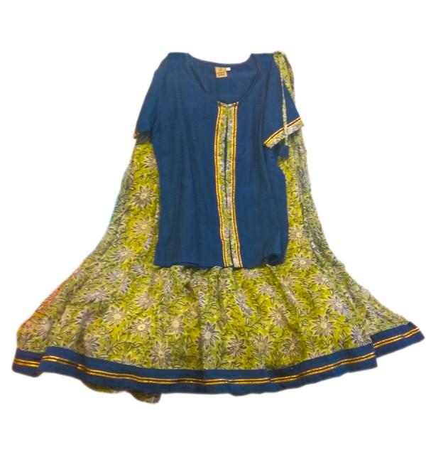 Cotton Lehenga Choli Set Size 10 To 12 Year
