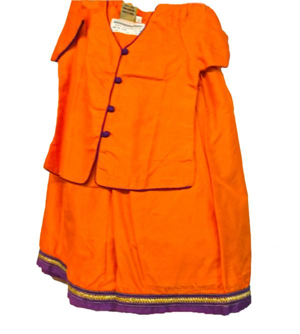 Silk Lehenga Choli Set Size 2 To 4 Years