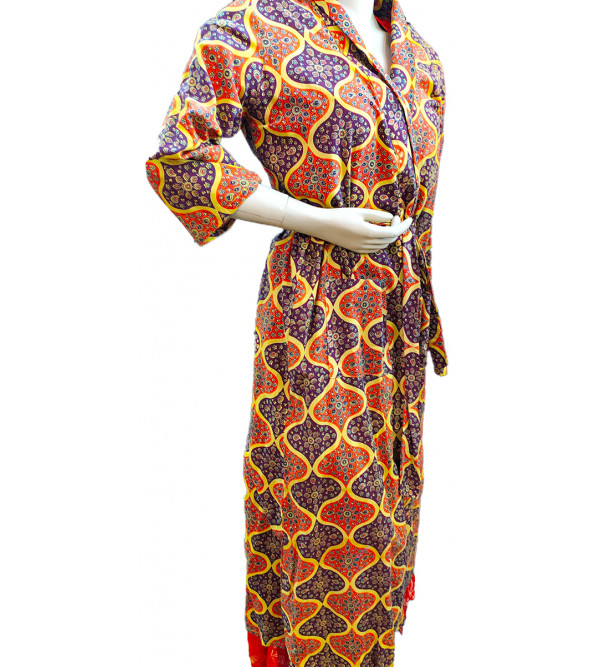 Dressing Cotton Printed Kaftan Gown