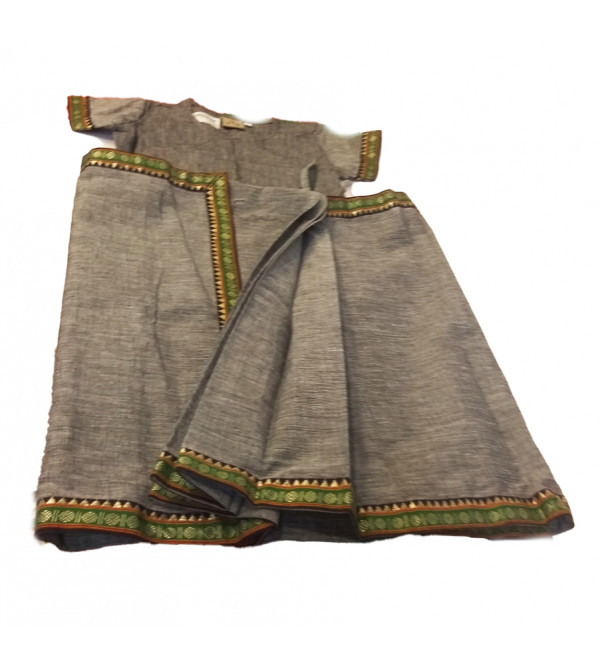 Cotton Magalagiri Stitched Saree With Blouse Size 1 to 2 Year