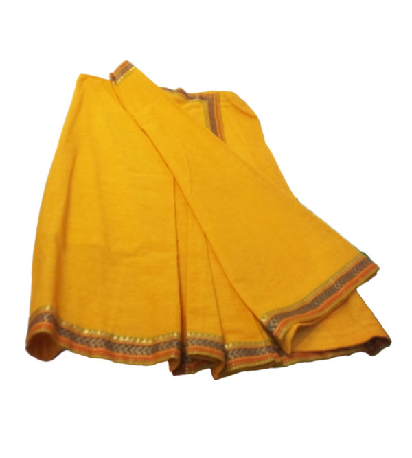 Cotton PLain Stitched Saree With Blouse Size 2 to 4 Year
