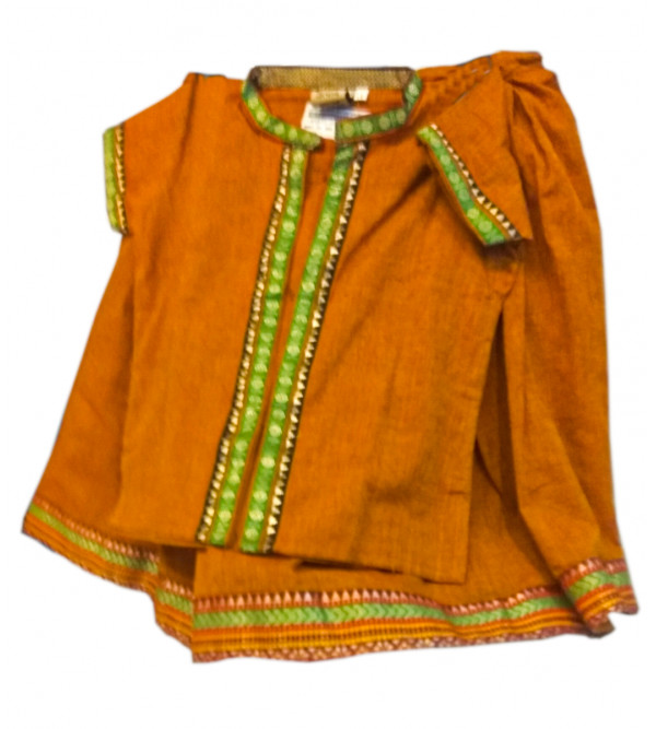 Cotton Plain Manglagiri Lehenga Choli Set Size 1 to 2 Year