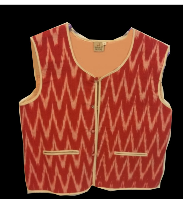 Cotton Ikat Work Quilted Jacket Size 10 to 12 Year