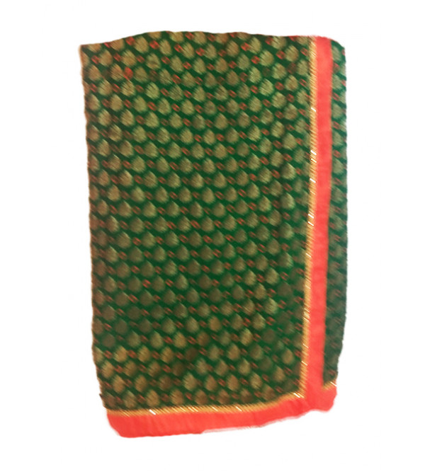 Brocade Stiched Silk Saree With Blouse Size 10 to 12Yr