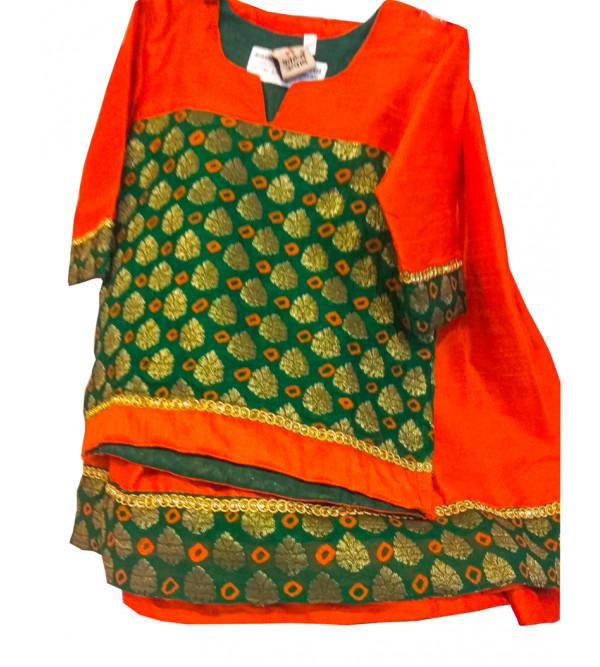 Brocade   Silk Lehenga Choli Set Size 1 to 2 yr