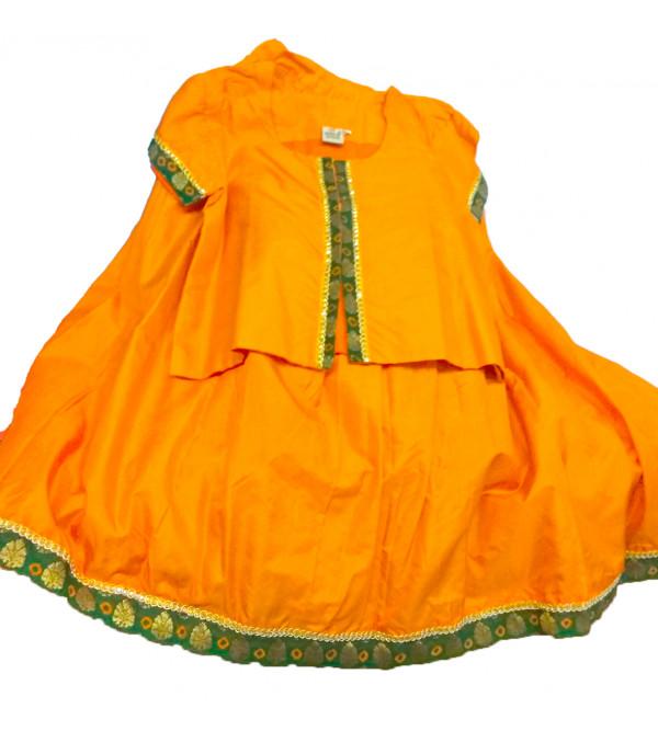Plain Silk Lehenga  Choli Set Size 6 to 8 years