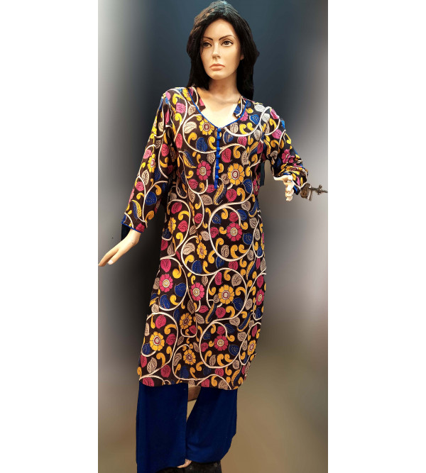 Cotton Hand Block Print Long Kurtis