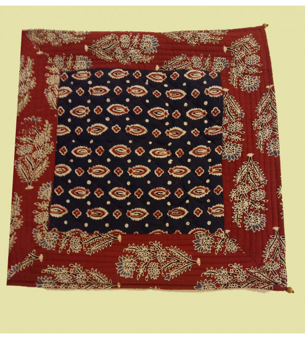 Cotton Printed  Cushion Cover With Quilting Size 16x16 Inch
