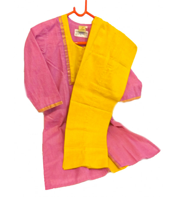 Cotton Mangalari Fabric Salwar Kameez Set Size 6 to 8 Year