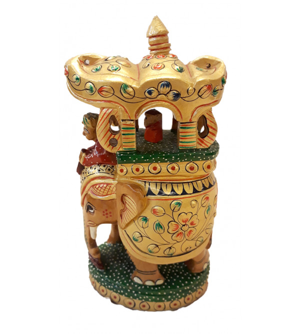 Kadamba Wood Handcrafted and Hand Painted Ambari