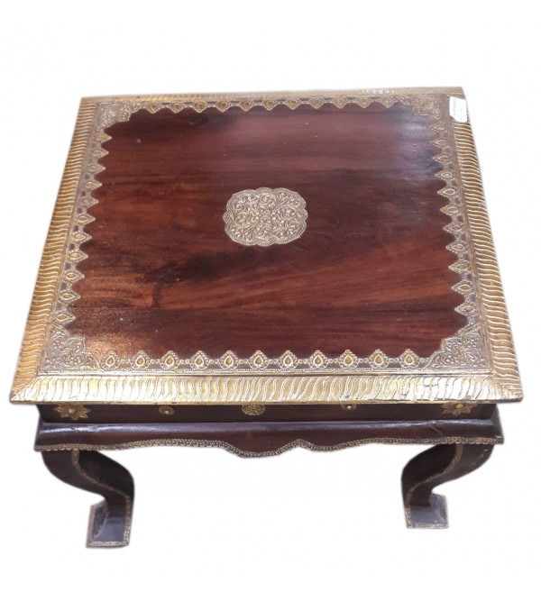Square Table Handcrafted In Mango Wood