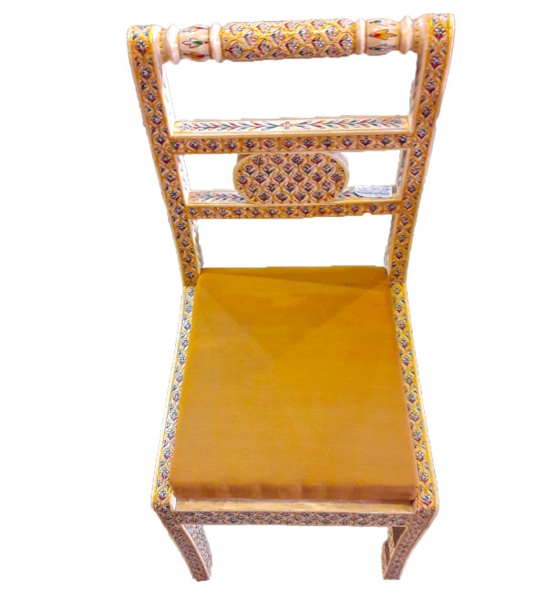Wooden Dining Chair With Camel Bone Inlay