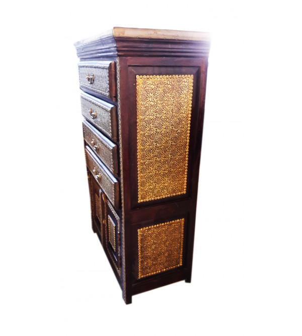 HAND PAINTED CABINET S-27x14x43 inch.