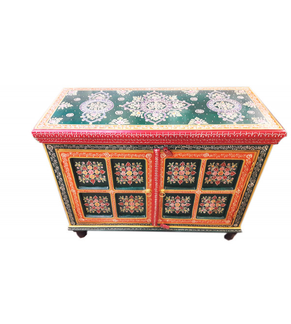 HAND PAINTED CABINET S-44x20x35 inch.