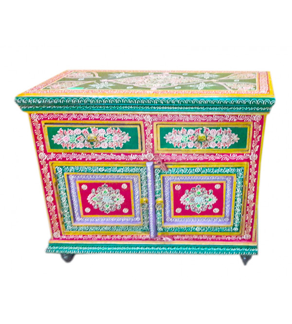 HAND PAINTED CABINET S-38x16x34 inch.
