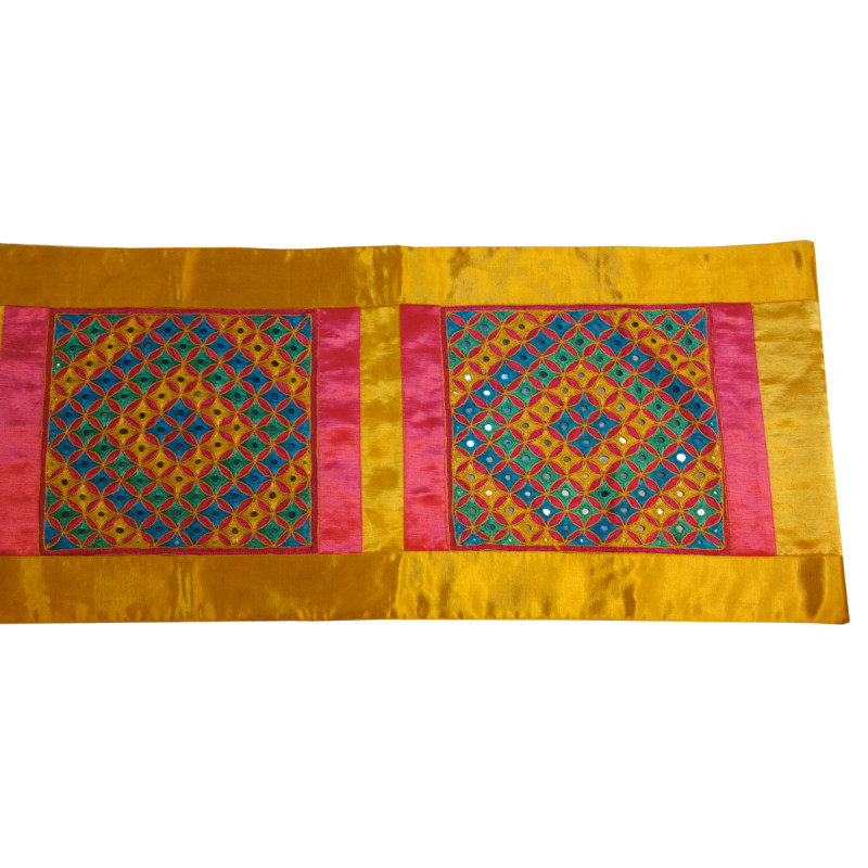 HANDICRAFT RUNNER COTTON EMBROIDERED 13x60 INCH