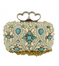 HANDICRAFT BAG CLUTCH MOTI ZIRCON