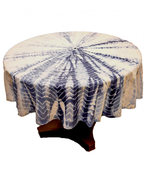 Cotton Bandhani Printed  Table Cover Size 60 Inch Round