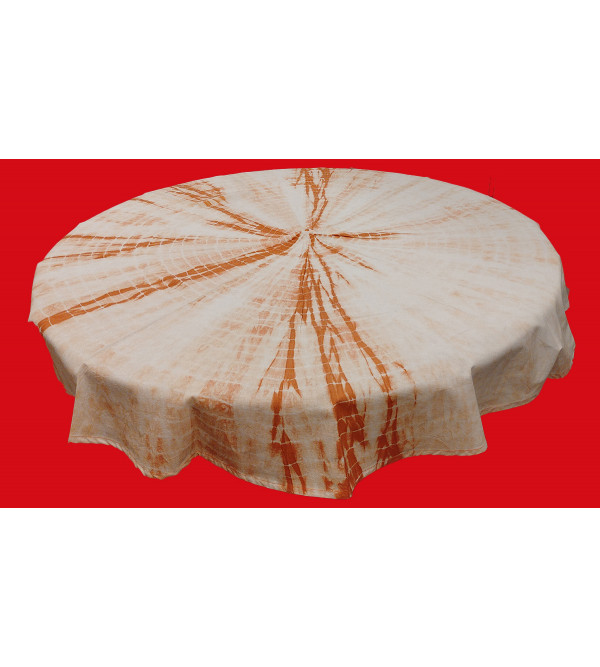 Cotton Bandhani Printed  Table Cover Size 48Inch Round