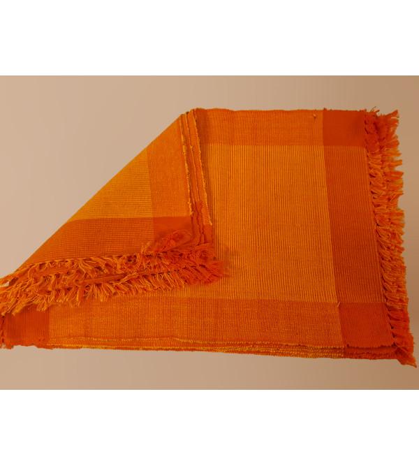 Cotton Handwoven Mat Set Size 13x18 Inch