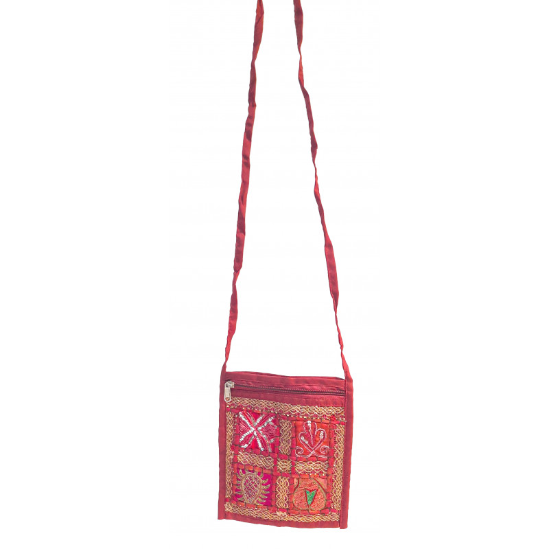 CCIC Cotton Embroidered Passport Bag Size 4x7 Inch