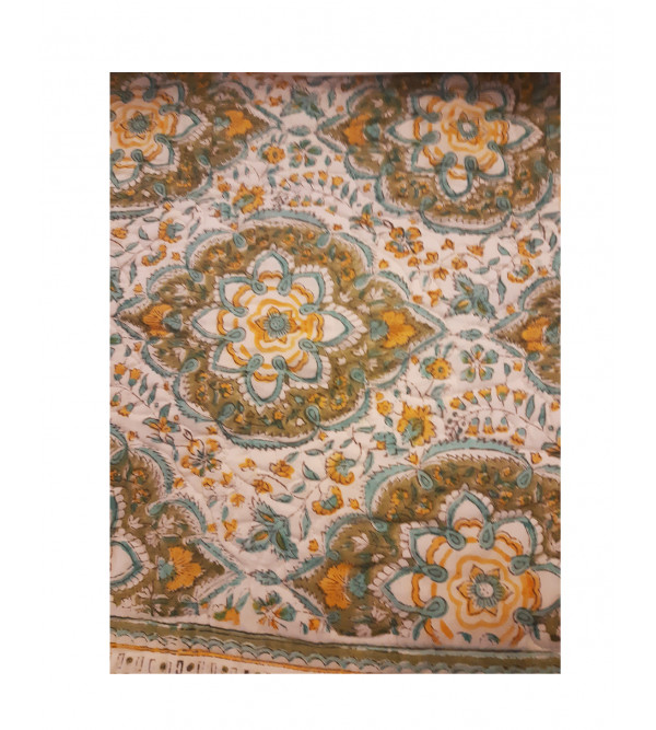Bed Cover Cotton printed Hand Block 90x108 inch