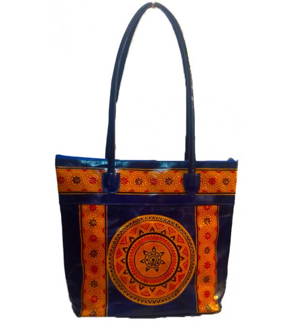 Shanti Niketan Leather Bag Size 10x13 Inch
