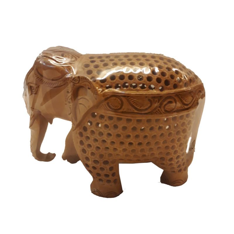 Kadamba Wood Handcrafted Elephant with Undercut Design