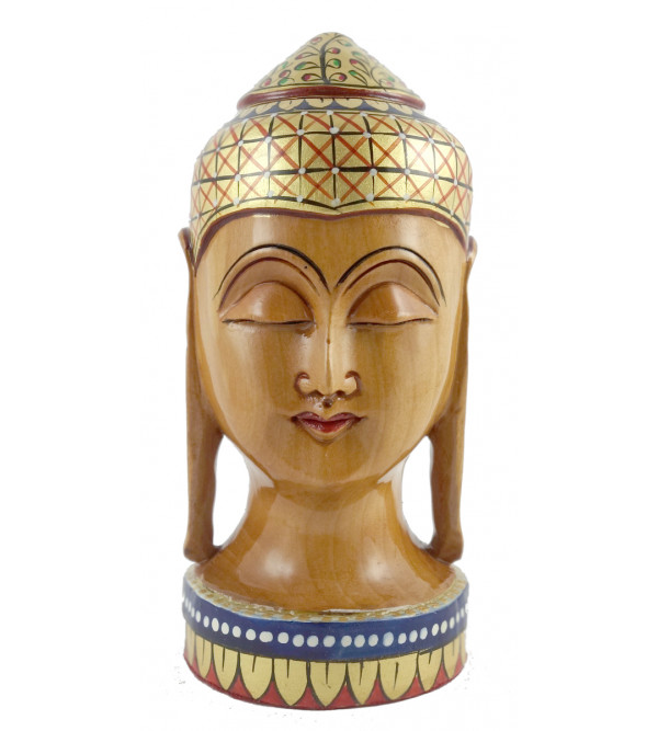 KADAM WOOD BUDDHA HEAD 5 INCH