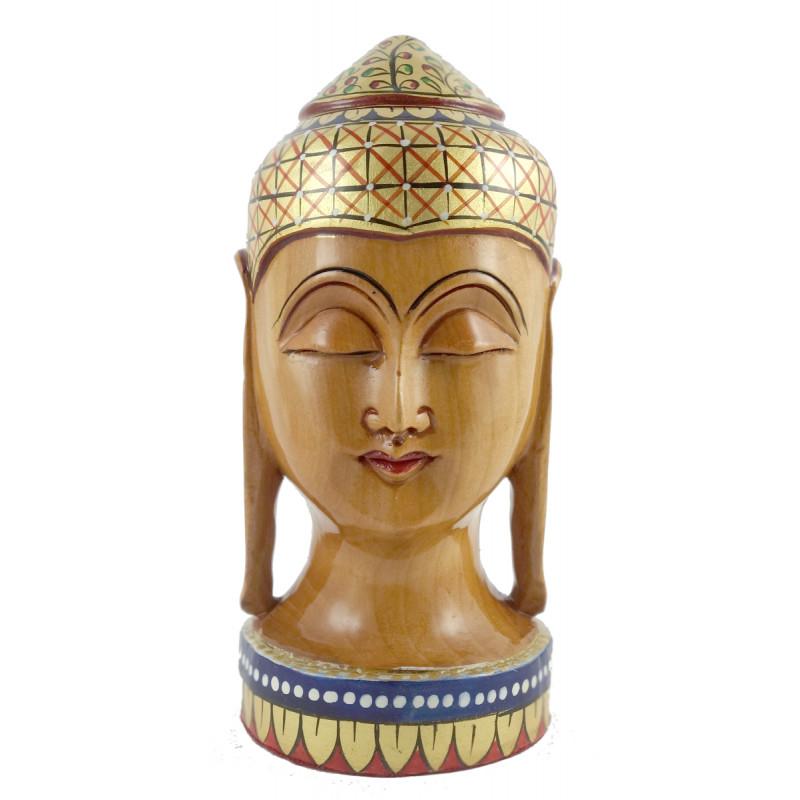 KADAM WOOD BUDDHA HEAD 6 INCH