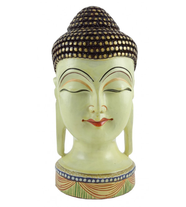 KADAM WOOD BUDDHA HEAD 8 INCH
