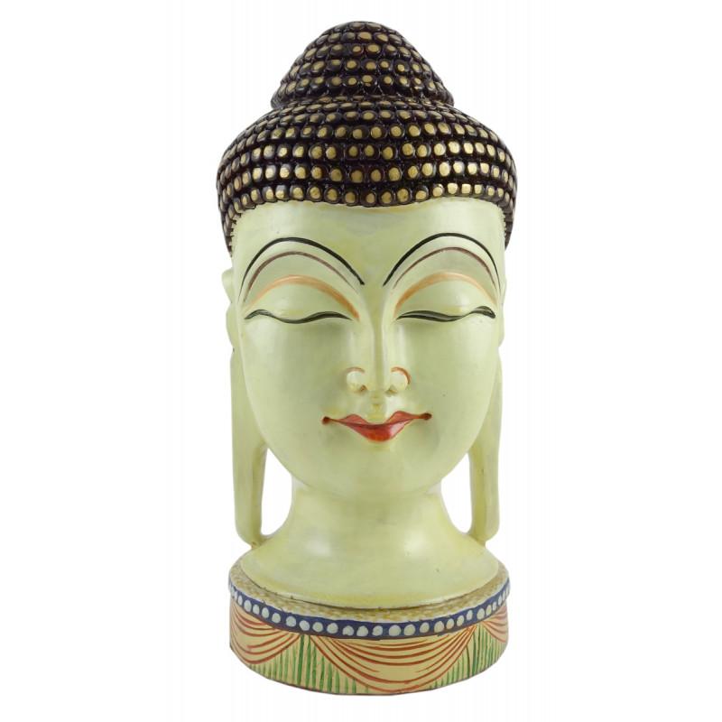 Kadamba Wood Handcrafted Buddha Head