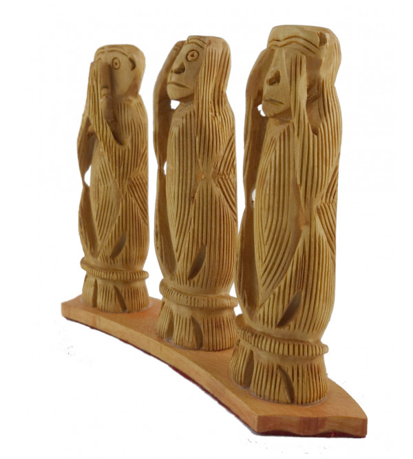 KADAM WOOD MONKEY SET 4 Inch