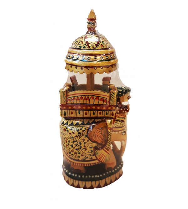 AMBARI PAINTED FINE KADAM WOOD 7 INCH