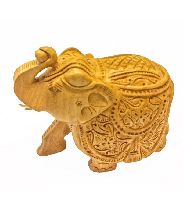CARVED WOODEN ELEPHANT 6INCH