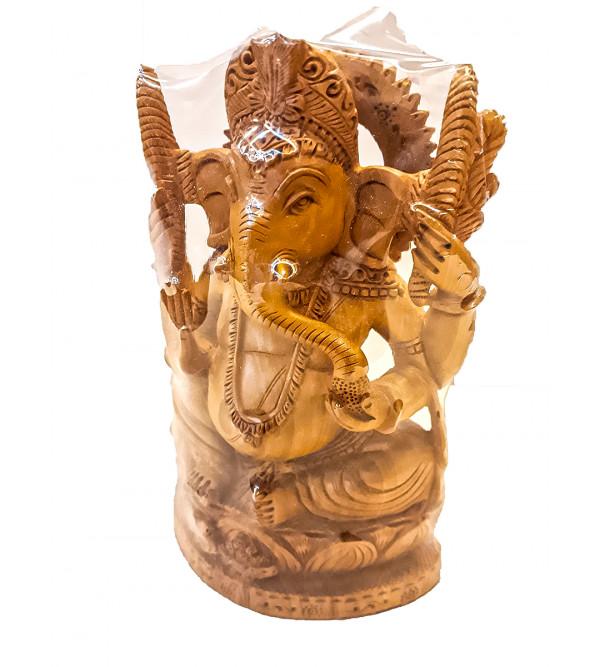 Kadamba Wood Handcrafted Lord Ganesha Figure